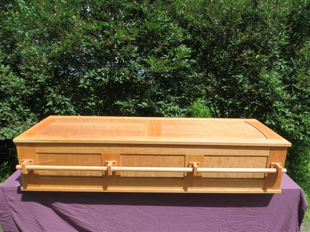 Cherry Frame and Panel Coffin